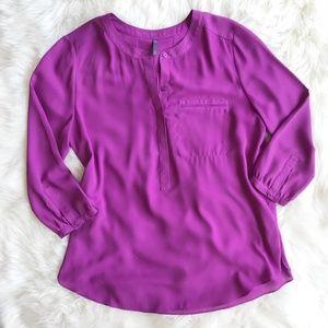 NYDJ Purple Popover Blouse o903